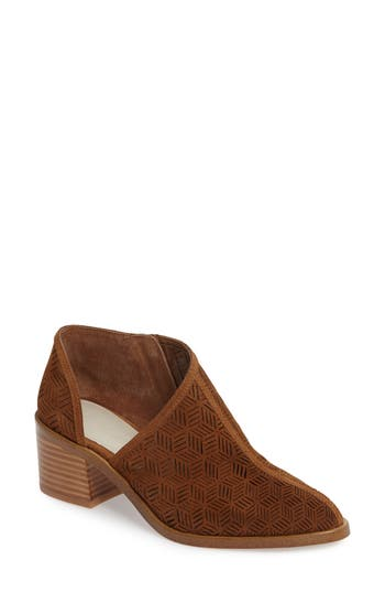 Women's 1.state Iddah Perforated Cutaway Bootie, Size 5.5 M - Brown