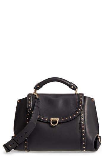 Salvatore Ferragamo Medium Sofia Studded Leather Satchel -