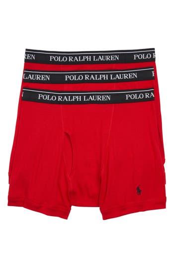 Men's Polo Ralph Lauren 3-Pack Cotton Boxer Briefs