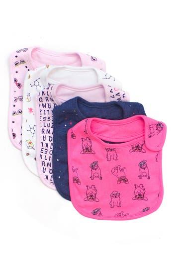 Infant Boy's Rosie Pope 5-Pack Nerd Alert Bib Set, Size One Size - Pink