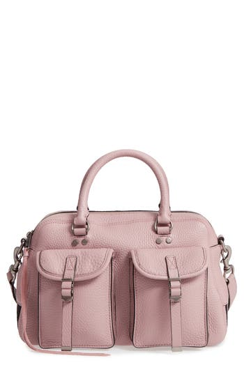 Rebecca Minkoff Military Pocket Leather Satchel - Pink