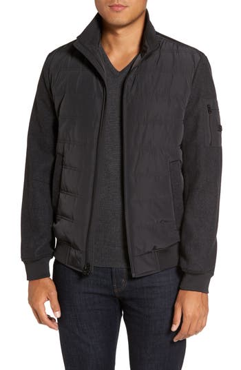 Men's Michael Kors Mixed Media Quilted Jacket