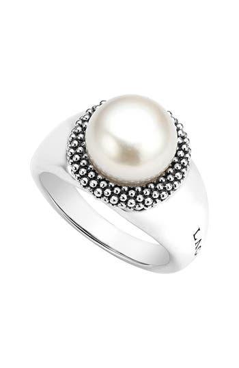 Women's Lagos 'Luna' Large Pearl Ring