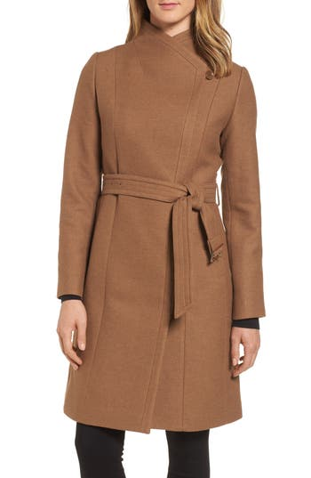 Women's Cole Haan Belted Double Breasted Coat