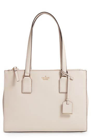 Kate Spade New York Cameron Street - Small Jensen Leather Tote - Ivory