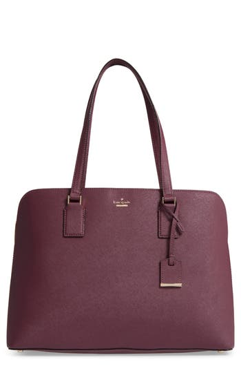 Kate Spade New York Cameron Street - Marybeth Leather Tote - Purple