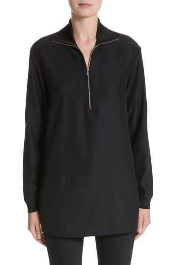 Women's Lafayette 148 New York Daryn Matte Silk & Knit Combo Blouse