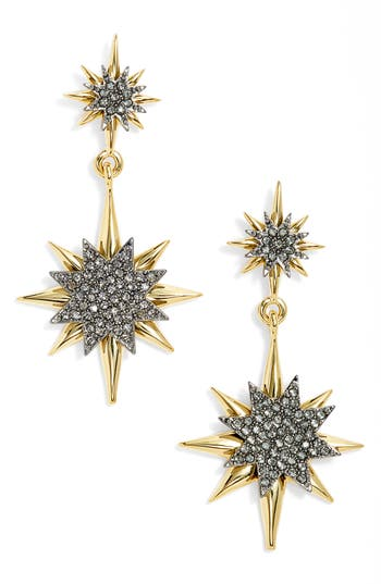 Women's Vince Camuto Crystal Double Drop Earrings