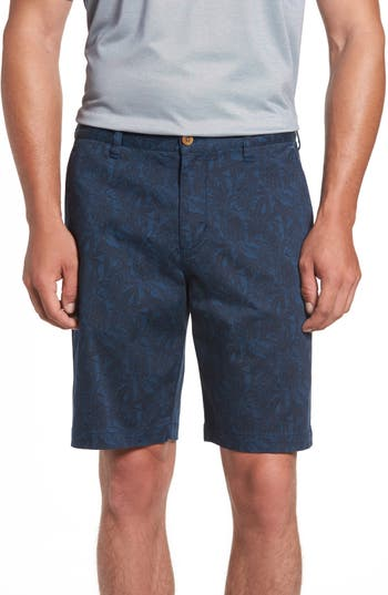Tommy Bahama Camo Tropic Standard Fit Chino Shorts, Blue