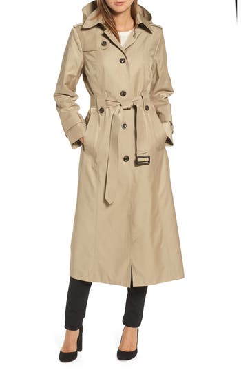 1950s Jackets and Coats | Swing, Pin Up, Rockabilly Womens London Fog Long Trench Coat Size X-Large - Beige $149.90 AT vintagedancer.com