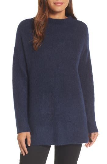 Women's Eileen Fisher Cashmere Blend Tunic Sweater, Size XX-Small - Blue