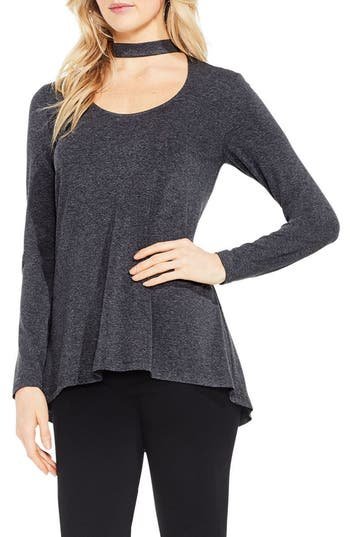 Women's Vince Camuto Mock Choker Neck Long-Sleeve Top
