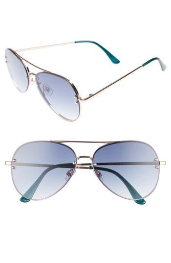 Women's Bp. 60Mm Oversize Mirrored Aviator Sunglasses - Blue