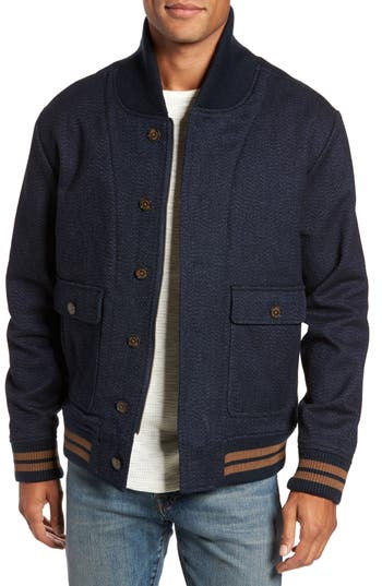 Men's Nifty Genius Roll Collar Varsity Jacket