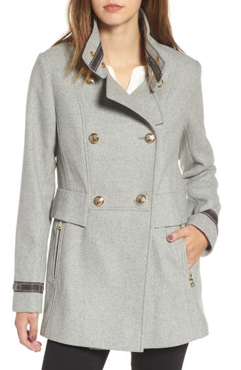Women's Vince Camuto Wool Blend Military Coat, Size X-Small - Grey