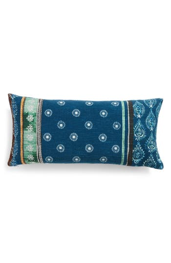Nordstrom At Home Block Print Pillow, Size One Size - Blue