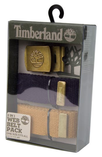 Men's Timberland Two-Strap Web Belt, Size One Size - Navy