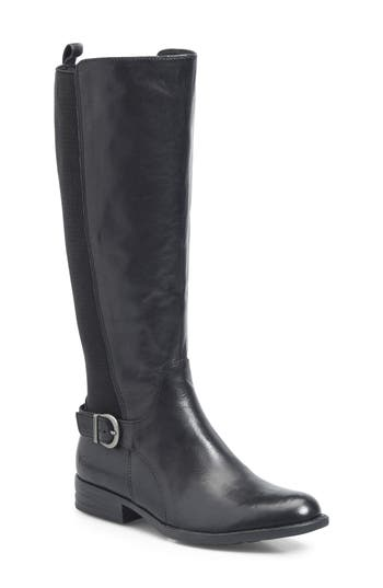 B?rn Campbell Knee High Elastic Back Boot, Black