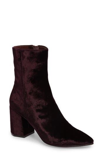 Linea Paolo Bobby Pointy Toe Boot- Burgundy