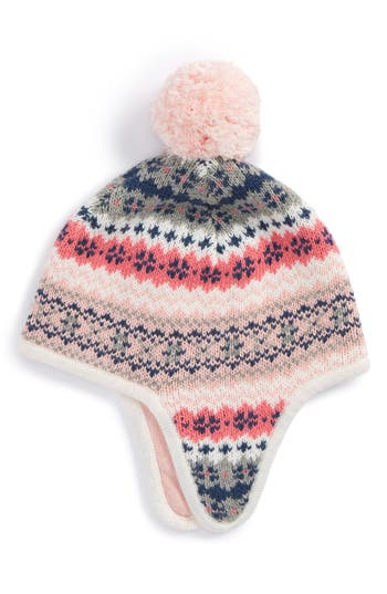Infant Tucker + Tate Fair Isle Earflap Hat - Pink