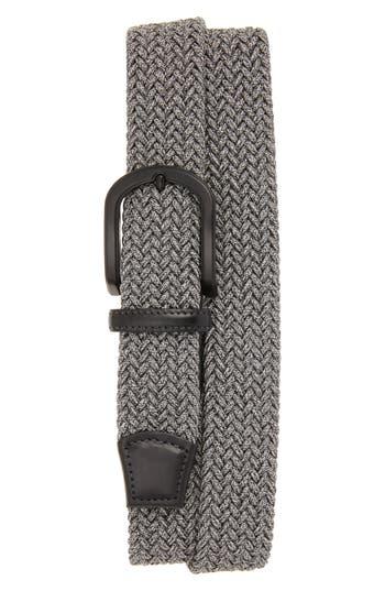 Big & Tall Torino Belts Braided Melange Belts, Grey