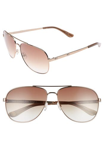 Women's Juicy Couture Black Label 59Mm Aviator Sunglasses -