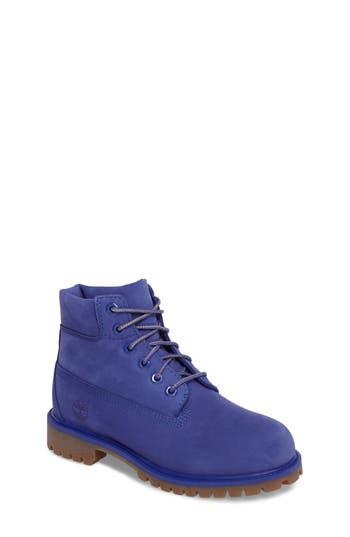 Girl's Timberland 6-Inch Premium Waterproof Boot, Size 3.5 M - Blue