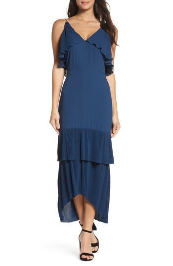 Women's Cooper St Kate Pleated Ruffle Midi Dress, Size 2 - Blue