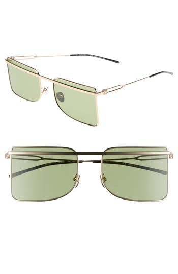 Calvin Klein 205W39Nyc 5m Butterfly Sunglasses - Light Gold