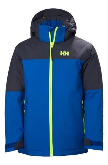 Boy's Helly Hansen 'Progress' Waterproof Hooded Jacket