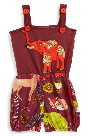 Infant Girl's Masalababy Elephant Rubble Romper