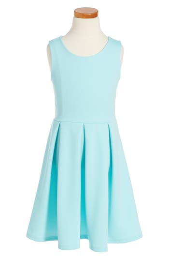 Girl's Soprano Skater Dress, Size XL (14-16) - Blue