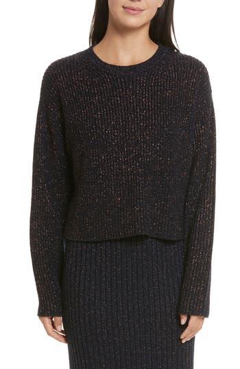 Rag & Bone Leyton Metallic Knit Merino Wool Blend Sweater