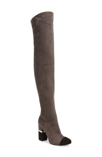 Marc Fisher Ltd Petel Over The Knee Boot, Grey
