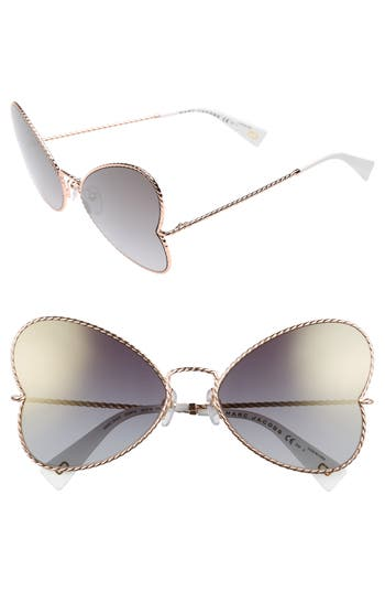 Women's Marc Jacobs 60Mm Heart Sunglasses - Gold Copper
