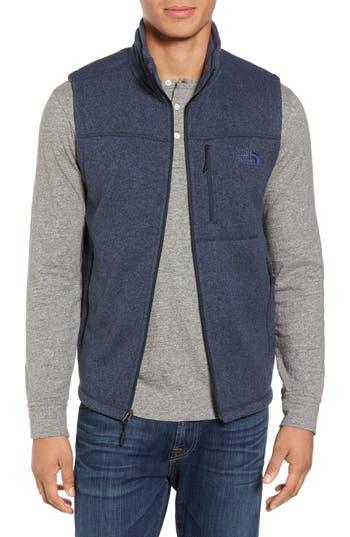 Men's The North Face Gordon Lyons Zip Fleece Vest, Size Small - Blue
