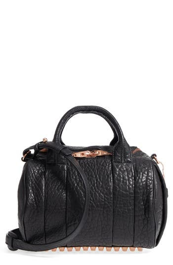 Alexander Wang Rockie Dumbo Leather Satchel - Black