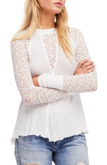 Free People No Limits Layering Top, Ivory