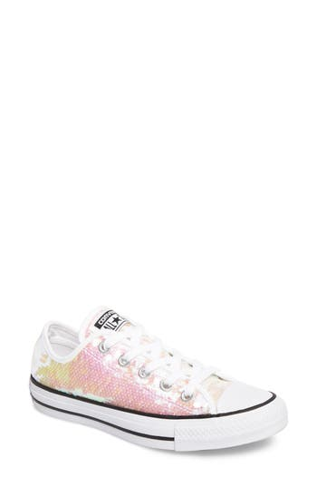 Women's Converse Chuck Taylor All Star Sequin Low Top Sneaker, Size 5 M - White