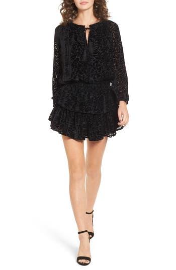 Women's Kas New York Ember Velvet Burnout Smocked Dress