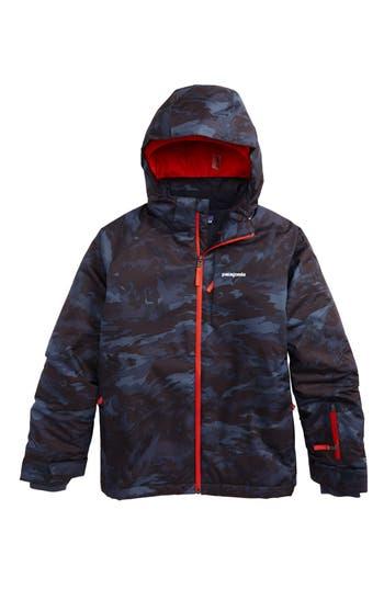 Boy's Patagonia Snowshot Waterproof Insulated Hooded Jacket