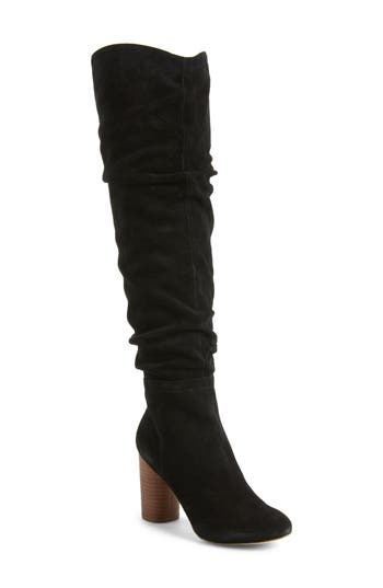 Sole Society Bali Slouchy Over The Knee Boot, Black