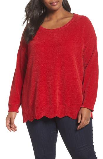 Plus Size Women's Sejour Scallop Hem Sweater