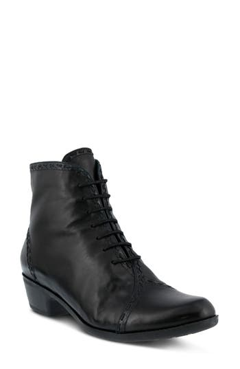 Spring Step Jaru Lace-Up Bootie, Black