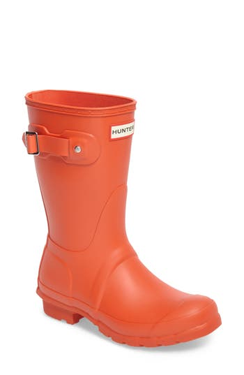 Women's Hunter 'Original Short' Rain Boot, Size 6 M - Orange
