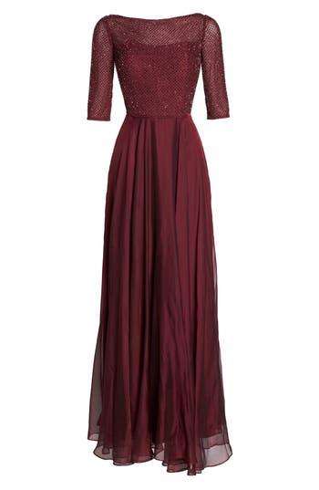 Women's La Femme Embellished Bodice Gown