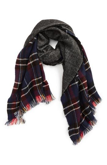 Women's Emanuel Geraldo Reversible Blanket Scarf, Size One Size - Blue