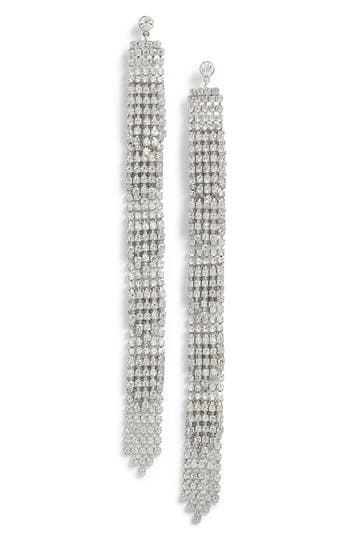 Women's Cristabelle Crystal Fringe Shoulder Duster Earrings