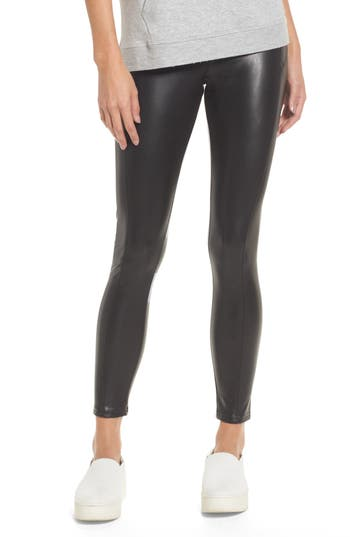 Nordstrom Faux Leather Leggings, Black