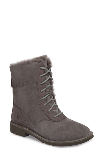 Ugg Daney Lace-Up Boot- Grey